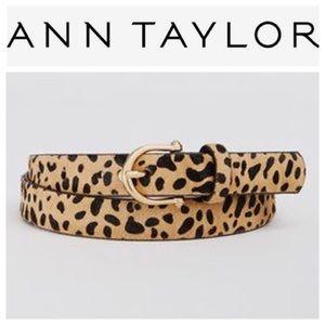 ANN TAYLOR animal print calf hair belt